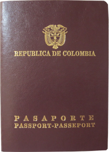 Colombia passport