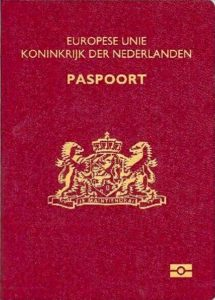 Copy of the Dutch Passport